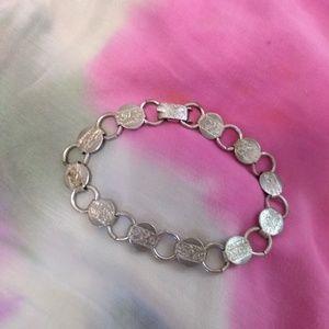 80s Vintage! Sarah Coventry round link bracelet
